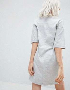 photo Boyfriend T-Shirt Dress with Pockets by ASOS DESIGN, color Grey Marl - Image 2