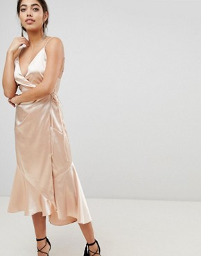 photo Midi Wrap Dress by the Jetset Diaries, color Gold Dust - Image 4