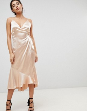 photo Midi Wrap Dress by the Jetset Diaries, color Gold Dust - Image 1