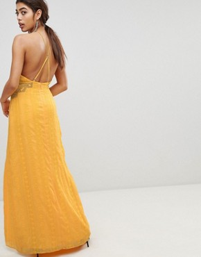 photo Embroidered Maxi Dress by the Jetset Diaries, color Marigold - Image 2