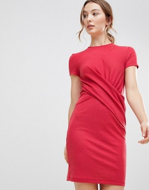 photo Cross Front Dress by MbyM, color Teaberry - Image 1