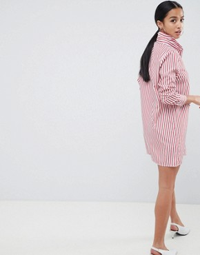 photo Stripe Shirt Dress by Missguided Petite, color Stripe - Image 2