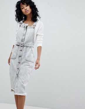 photo Denim Pinafore Dress by One Teaspoon, color Acidwash - Image 1