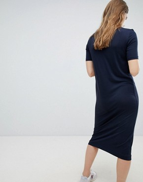 photo Column Midi Dress by Weekday, color Navy - Image 2