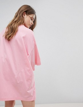 photo Huge T-Shirt Dress by Weekday, color Pink - Image 2
