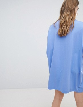 photo Huge T-Shirt Dress by Weekday, color Blue - Image 2