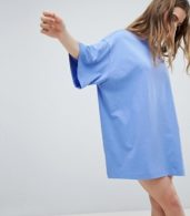 photo Huge T-Shirt Dress by Weekday, color Blue - Image 1