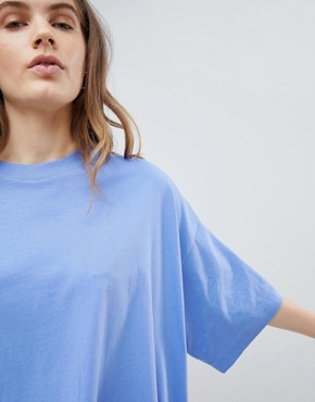 photo Huge T-Shirt Dress by Weekday, color Blue - Image 3