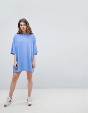 photo Huge T-Shirt Dress by Weekday, color Blue - Image 4