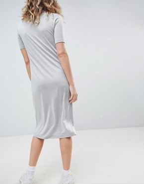 photo Column Midi Dress by Weekday, color Grey Melange - Image 2