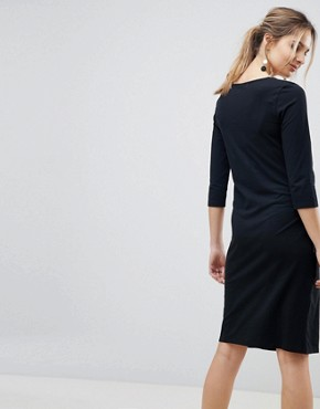 photo Organic Cotton 3/4 Sleeve Dress by Mama.licious, color Black - Image 2