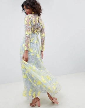 photo Embroidered Maxi Dress by ASOS EDITION, color Multi - Image 2