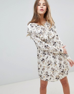 photo Printed Shift Dress by Vila, color Cloud Dancer - Image 1