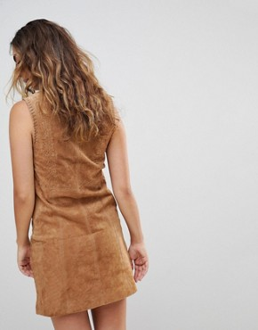 photo New Clare Real Suede Dress by Pepe Jeans, color Cognac - Image 2