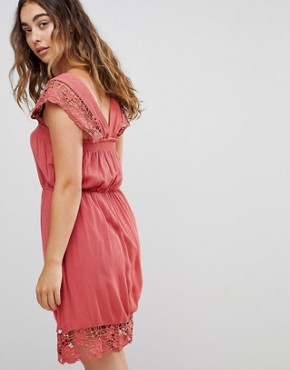 photo Wendy Lace Hems Dress by Pepe Jeans, color Auburn - Image 2