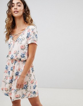 photo Deborah Floral Print Mini Dress by Pepe Jeans, color Multi - Image 1