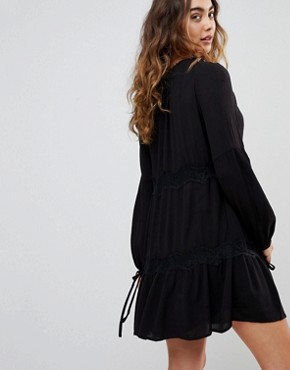 photo Ander Tie Sleeve Dress by Pepe Jeans, color Black - Image 2