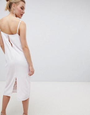 photo Embroidered Cami Slip Midi Dress by ASOS DESIGN, color Soft Lilac - Image 2