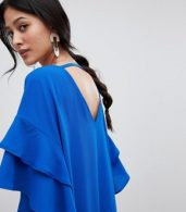 photo Shift Dress with Ruffle Sleeve by Y.A.S, color Blue - Image 3