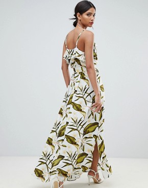 photo Tropical Wrap Maxi Dress by Y.A.S, color Multi - Image 2