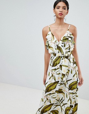 photo Tropical Wrap Maxi Dress by Y.A.S, color Multi - Image 1