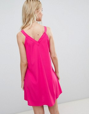 photo Lace Up Front Dress by Vero Moda, color Fuchsia Pink - Image 2