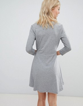 photo Jersey Wrap Dress by Vero Moda, color Grey - Image 2