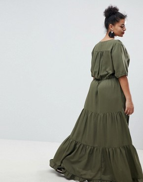 photo Prairie Maxi Dress with Tassel Detail by Junarose, color Green - Image 2