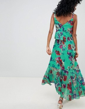 photo Floral Print Ruffle Front Maxi Dress by ASOS DESIGN, color Multi - Image 2