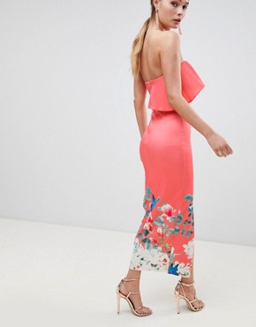 photo Midi Dress with Frill Detail by True Violet, color Multi - Image 2