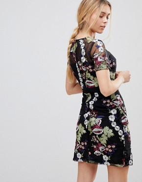 photo Floral Embroidered Mini Dress by Girls on Film, color Multi - Image 2