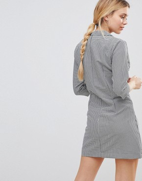 photo Blazer Dress in Dogtooth by Girls on Film, color Navy White - Image 2