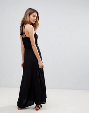 photo Embroidered Maxi Beach Dress by Surf Gypsy, color Black - Image 2
