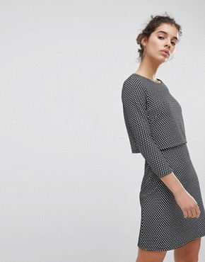 photo Checked Dress by Miss Selfridge, color Mono - Image 1