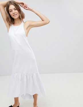 photo Maxi Dress with Racer Back and Hi Lo Pep Hem by ASOS DESIGN, color White - Image 1