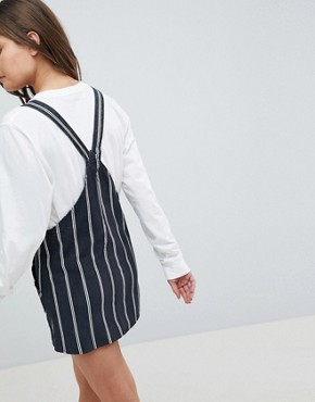 photo Stripe Baby Cord Dunagrees Dress by Pull&Bear, color Black - Image 2