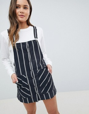 photo Stripe Baby Cord Dunagrees Dress by Pull&Bear, color Black - Image 1
