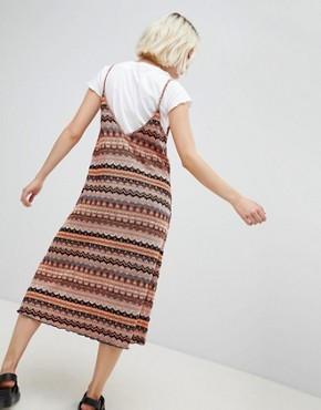 photo Knitted Cami Midi Dress in Multi by Pull&Bear, color Multi - Image 2