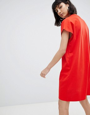 photo High Neck Dress by Weekday, color Red - Image 2