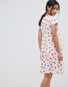 photo Knot Front Tea Dress with Tie Front in Multi Spot by & You Nursing, color Multi Spot - Image 2