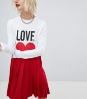 photo Icon Mini T-Shirt Dress with Pleated Skirt by Love Moschino, color  - Image 1