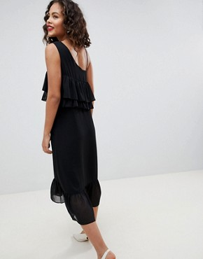 photo Fricca Ruffle Dress by Y.A.S Tall, color Black - Image 2