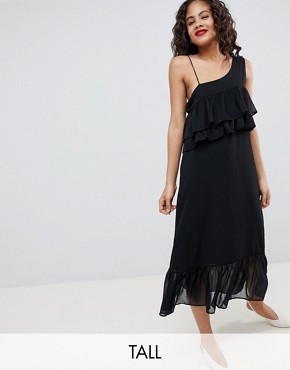 photo Fricca Ruffle Dress by Y.A.S Tall, color Black - Image 1