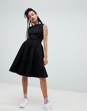 photo Sequin Collar A-Line Midi Dress by Love Moschino, color  - Image 1