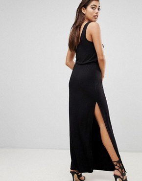 photo Maxi Dress with Split by Ivyrevel, color Black - Image 2