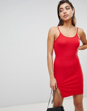 photo Mini Dress with Slit in Rib Jersey by Ivyrevel, color Hot Red - Image 1
