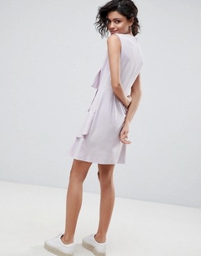 photo Tiered Ruffle Dress by 2nd Day, color Lavender Fog - Image 2