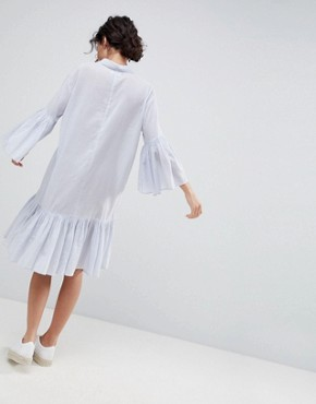 photo Cotton Shirt Dress by 2nd Day, color Halogen - Image 2