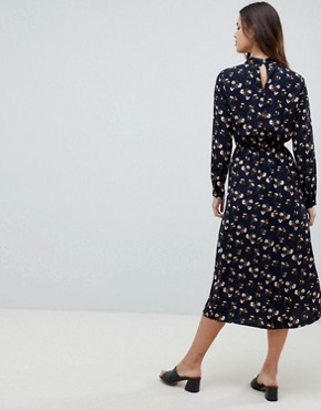photo Long Sleeve Floral Maxi Dress by Uttam Boutique, color Navy - Image 2