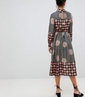 photo Long Sleeve Belted Maxi Dress by Uttam Boutique, color Black - Image 2